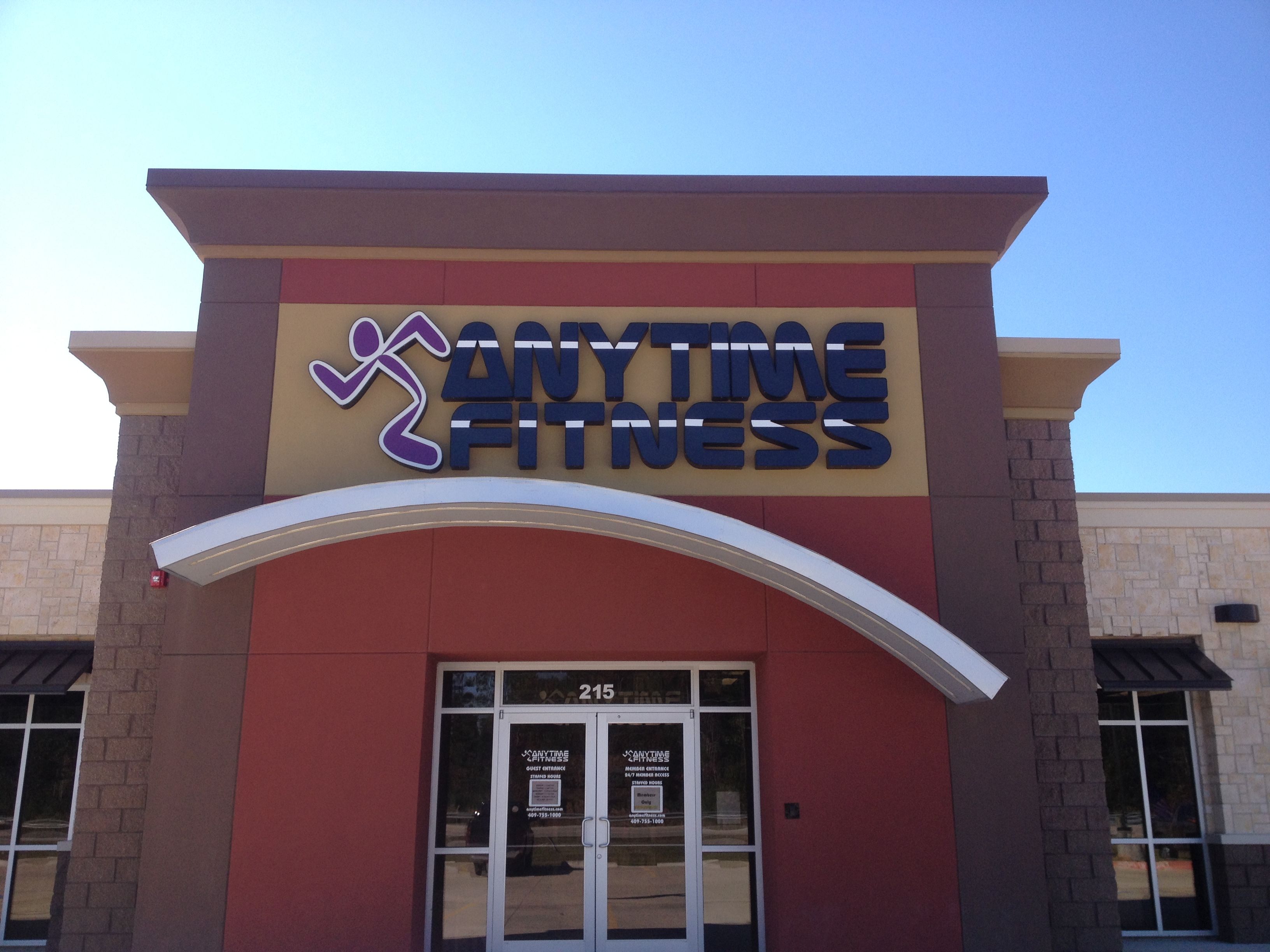 Anytime Fitness Channel Letters and Logo