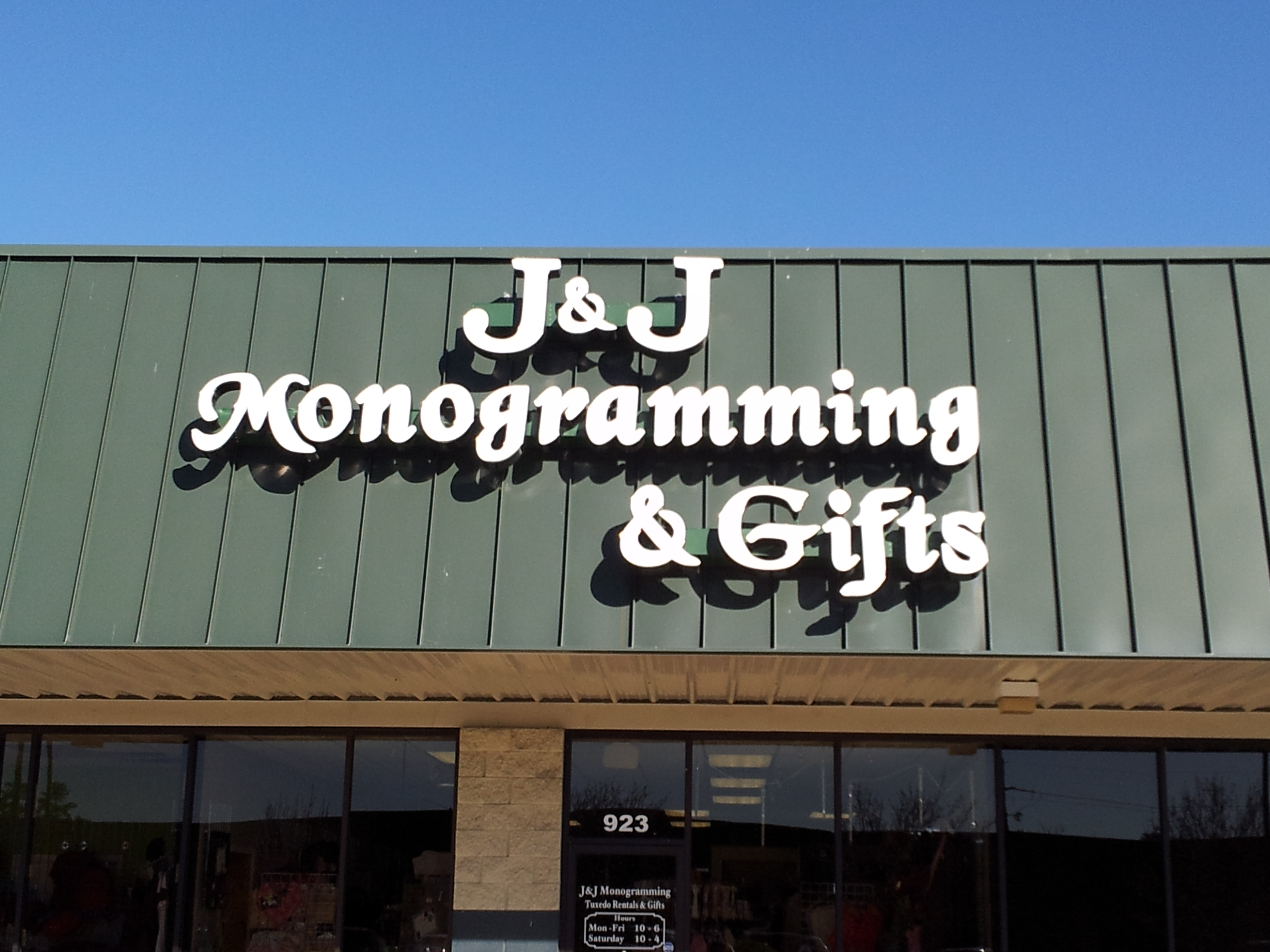 J&J Monogramming - Channel Letters