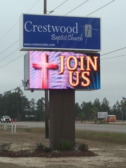 Crestwood Baptist Church - I.D. Pole Sign & LED Digital Sign