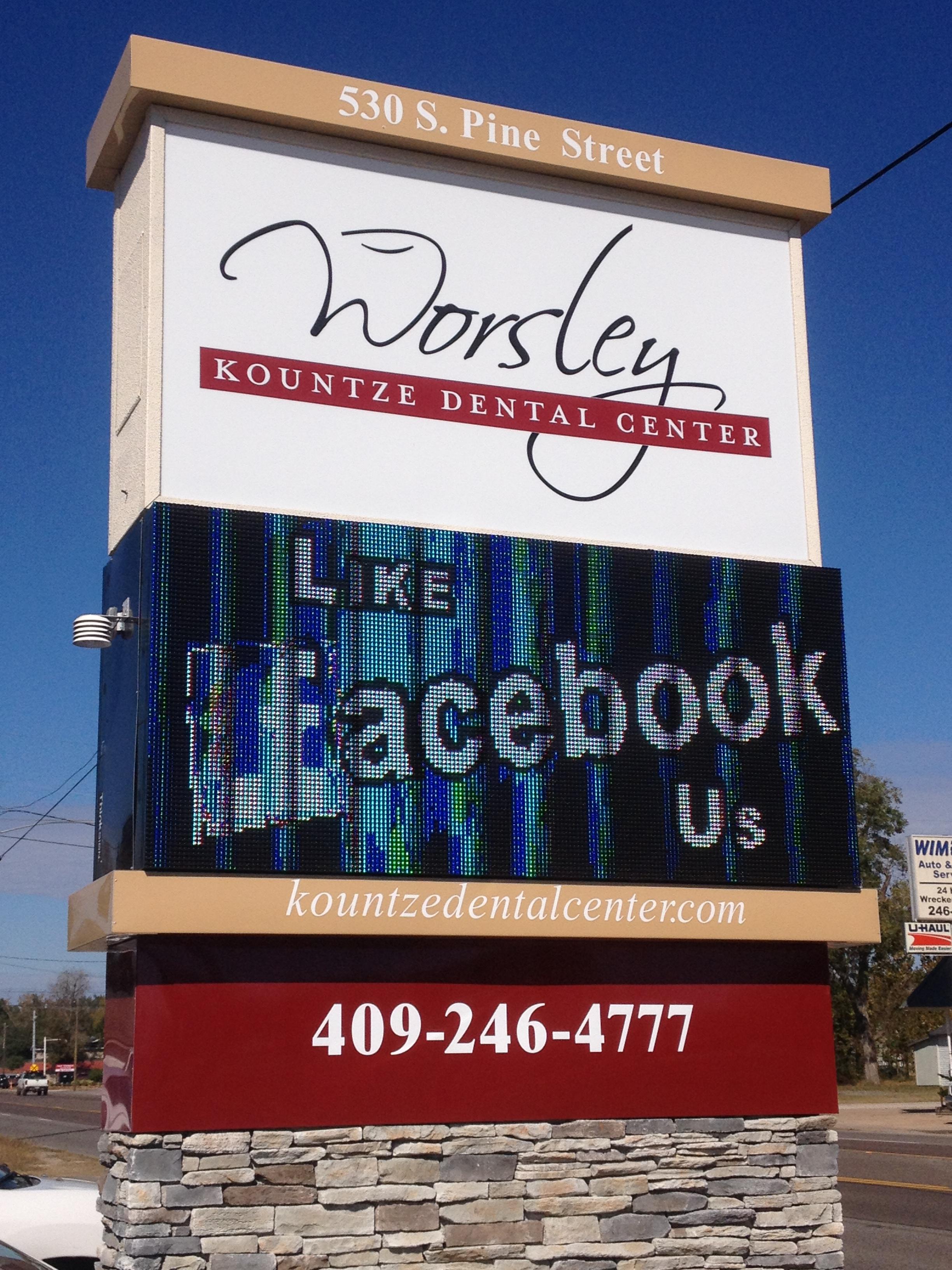 Worsley Dental Center - I.D. Monument & LED Digital Sign