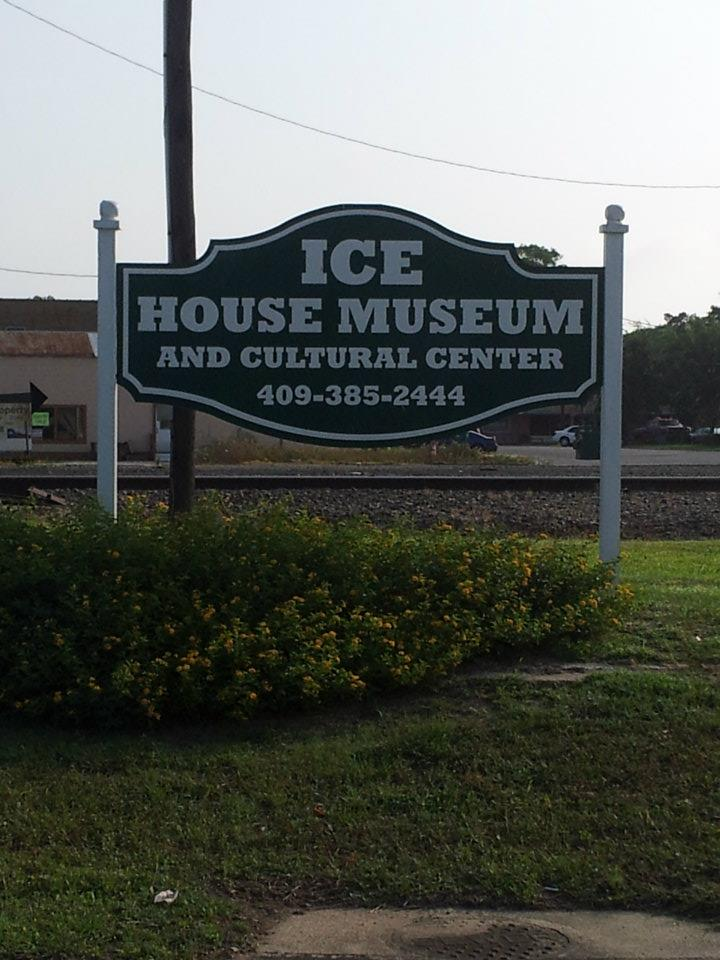 Ice House Museum - Monument Sign