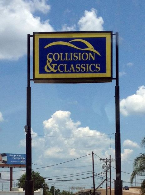 Collision & Classics - I.D. Pylon Sign