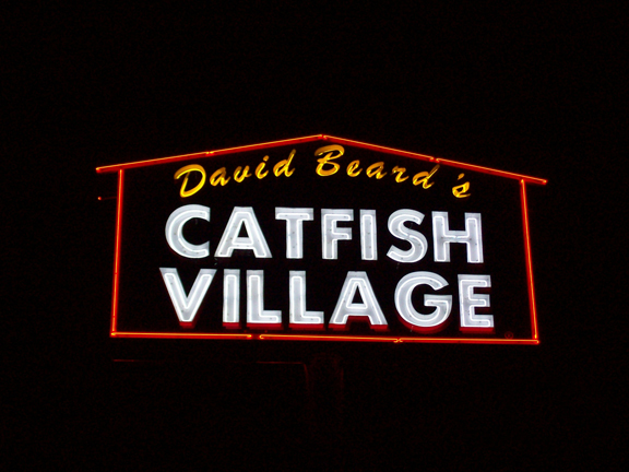 Catfish Village - Pole Sign