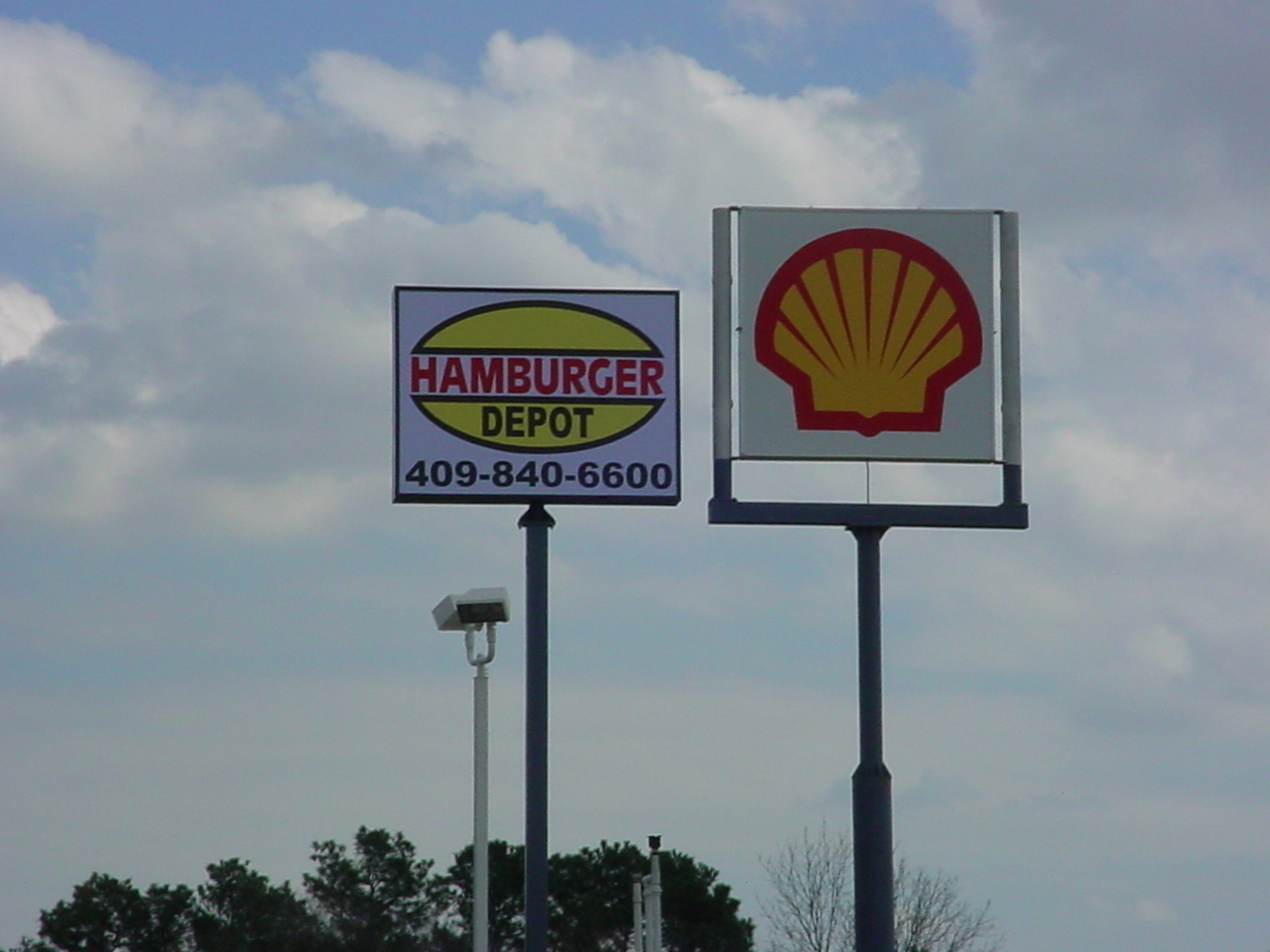 Hamburger Depot - Shell - Pole Signs