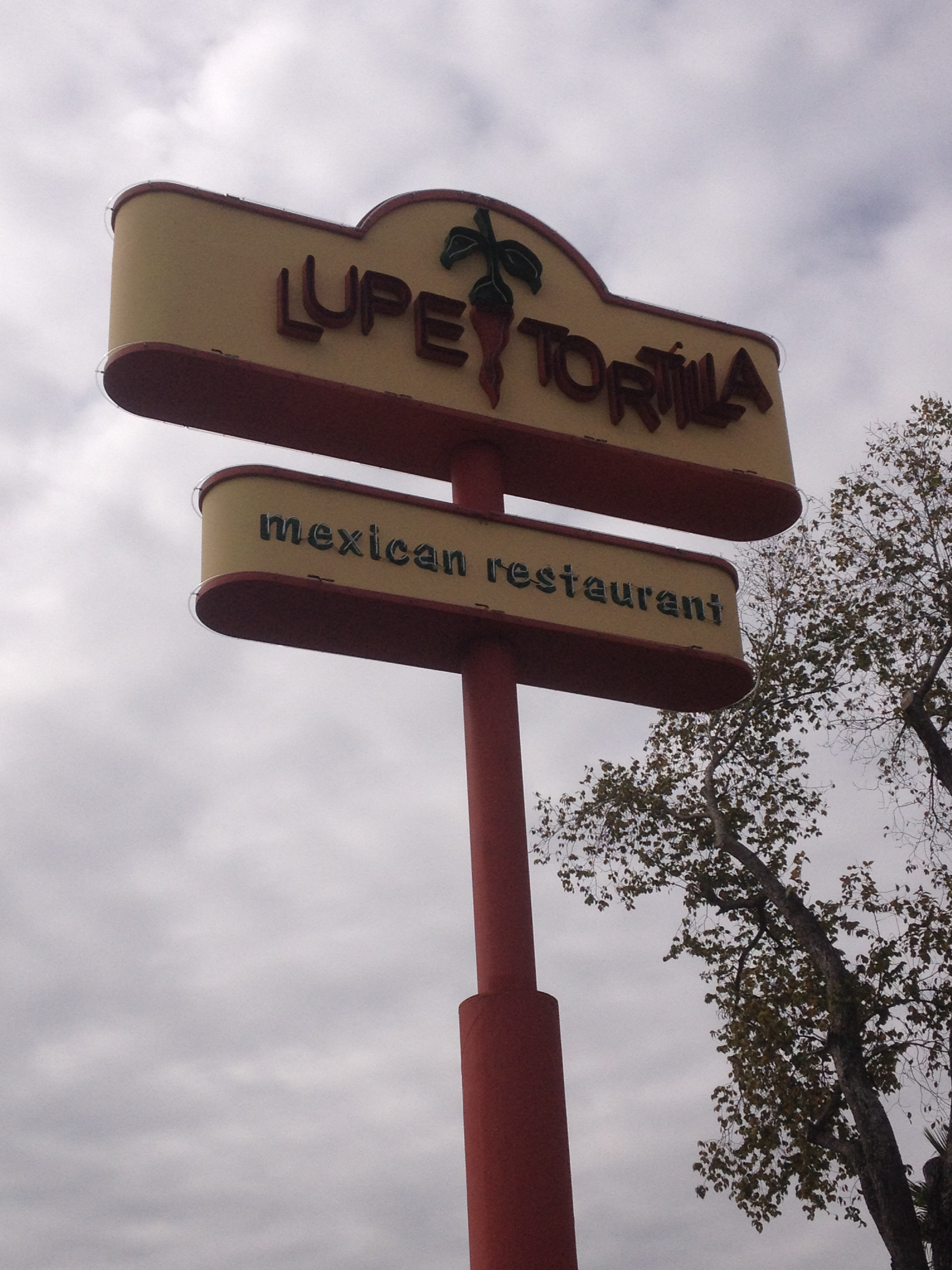 Lupe Tortilla - Pole Sign