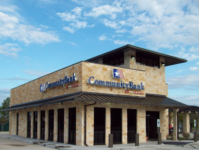 Community Bank of Texas Channel Letter and Logo
