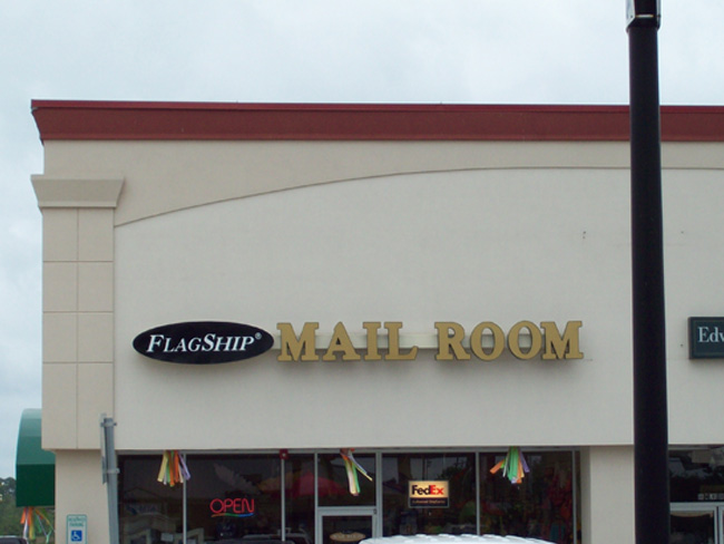 Flagship Mailroom - Channel Letters