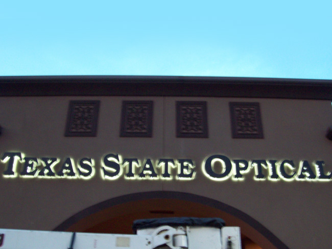 Texas State Optical - Reverse Channel Letters