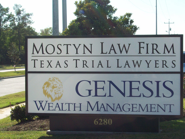 Mostyn Law Firm - Genisis - Monument Sign