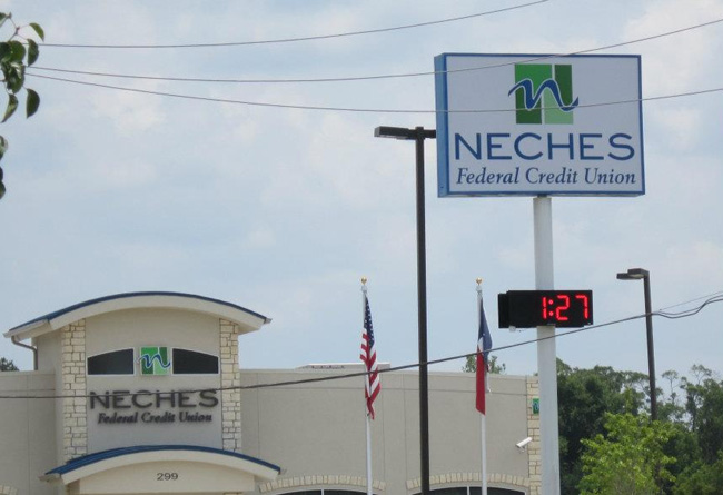 Neches Federal Credit Union - I.D. Pole Sign & Channel Letters